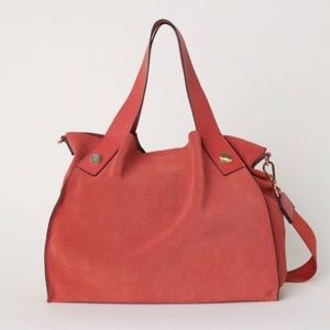 H&M Premium Suede Shoulder Bag